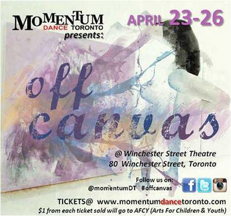 Momentum Dance Toronto presents: OFF CANVAS - TorontoDance.com