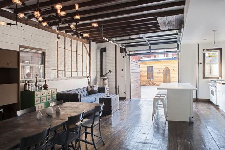 Urban Cowboy in Brooklyn  Created by Lyon Porter, Urban Cowboy is a peaceful oasis in the urban jungle, luxurious Brooklyn townhouse, inspired by the typical Adirondack habitat mix with industrial spirit.