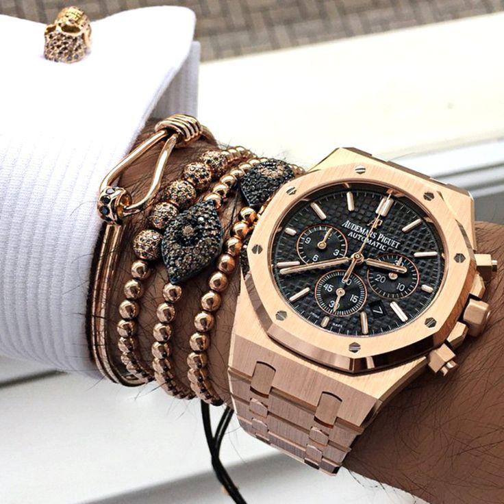 Anil Arjandas Men Bracelet,24K Gold Plated Beads & 6mm Pave Setting Black CZ Evil Eye Connector Braiding Men Macrame Bracelet