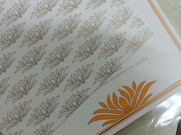 Floral elegance on your wedding invitations / wedding cards! #custom #personalised #design #stationery #cards #invites #invitations #weddingcards #wedding #indian #ethnic #weddingdesign #traditional #weddingsutra #custommade #customized #gold #bling #weddingstationery #weddingcards2013 #floral #patterns #rich #elegant #mumbai #2013