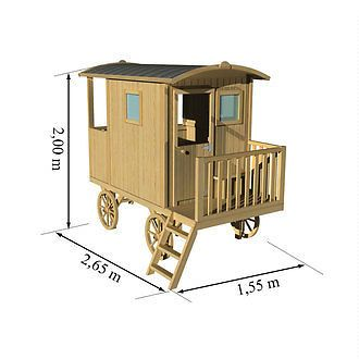 zirkuswagen kinderspielhaus gartenhaus bauwagen holzhaus. Black Bedroom Furniture Sets. Home Design Ideas