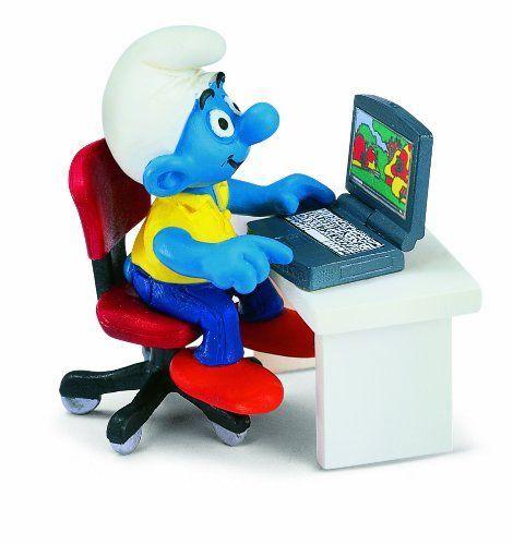 Schleich Smurf with Laptop Toy Figure Schleich http://www.amazon.com/dp/B0002HWO82/ref=cm_sw_r_pi_dp_CgbXtb0W0GP936E1