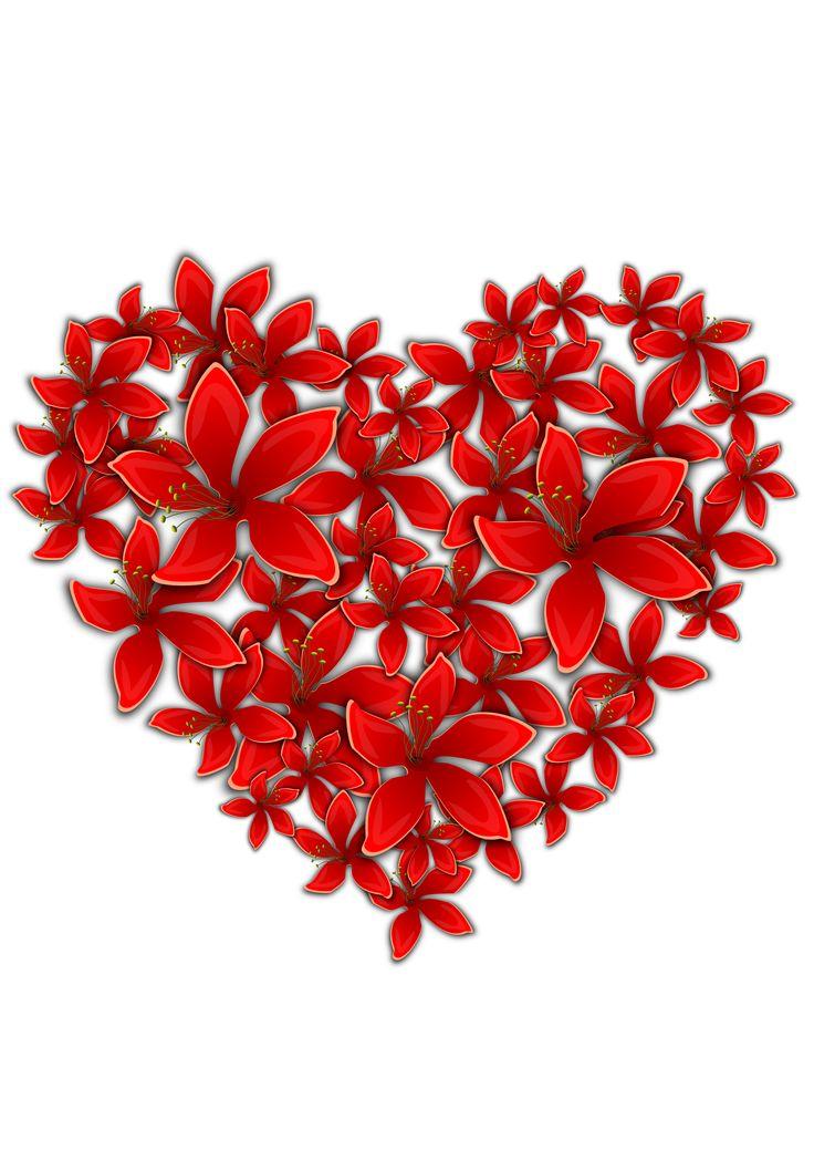 Flowery heart by @Almeidah, A flowery heart, on @openclipart