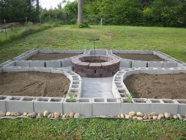 My amazing cinder block garden - the early years