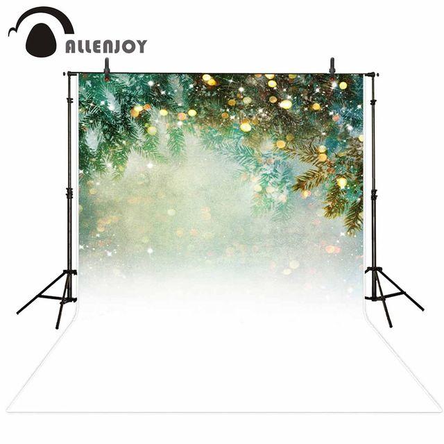 Allenjoy photography background glitter Bokeh Pine Snow Winter Theme backdrop photo background studio camera fotografica