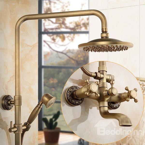 Vintage Antique Brass Shower Heads