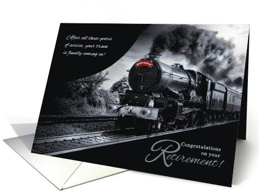 Retirement Congratulations Railroad Train Theme card