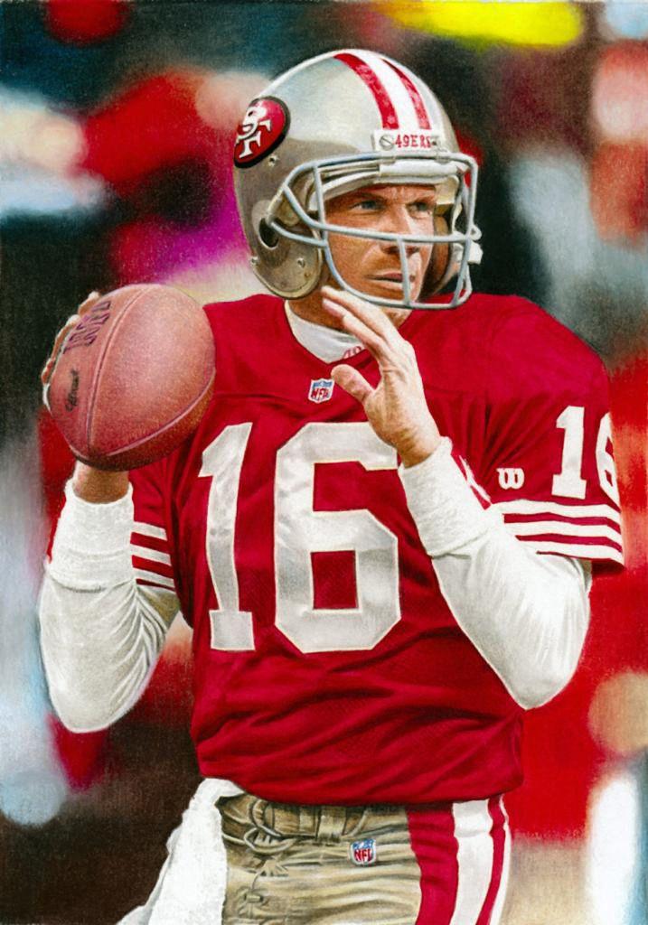 Joe Montana, 49ers by James Henry Smith.