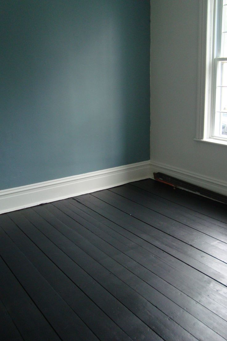 painted floorboards - Province Blue Benjamin Moore                                                                                                                                                     More