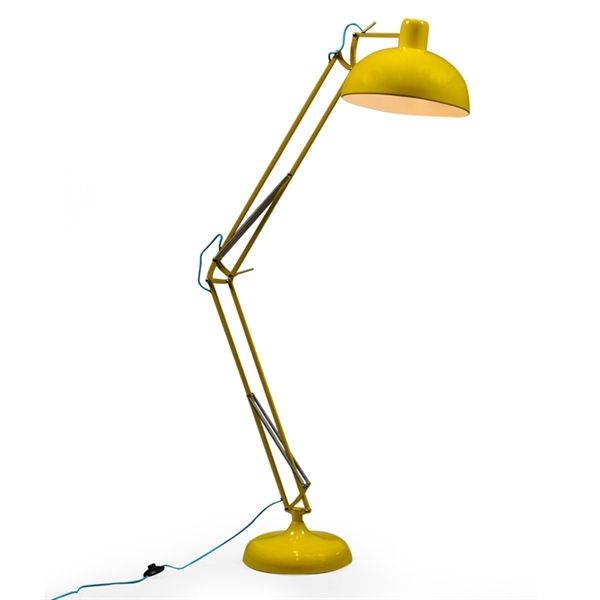 Https Www Cotswoldco Com Accessories Lighting Lamps Retro Oversized Floor Desk Lamp Yellow 149 00 Lamp Desk Lamp Oversized Floor Lamp