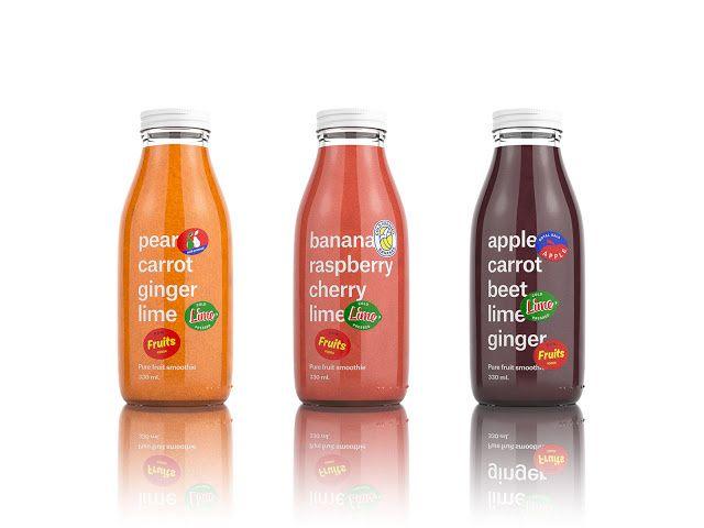 RAW Fruits (smoothies et jus de fruits bio pressés à froid) | Design : bsent resence, Prague, République Tchèque (avril 2015)