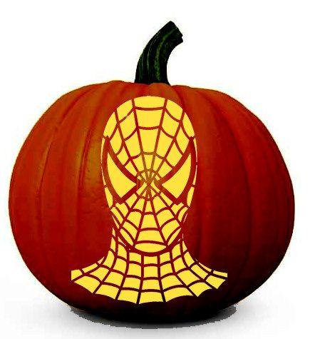 Amazing Spiderman Face - Halloween Pumpkin Carving Stencil