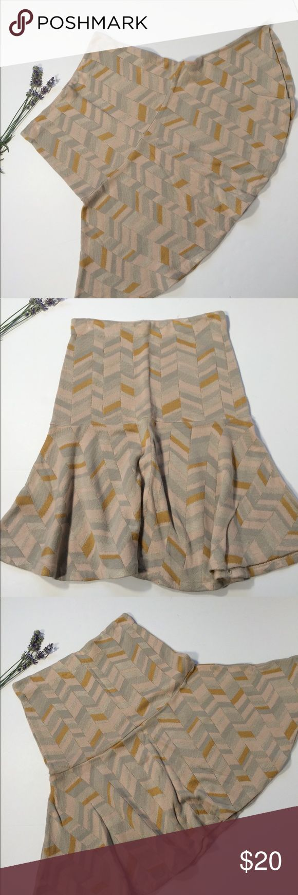 """Moth Small Knit Skirt Peach Gold Anthropology No holes , stains or tears. Pet and smoke free home. 13"""" across and 22"""" long. Anthropologie Skirts Mini"""