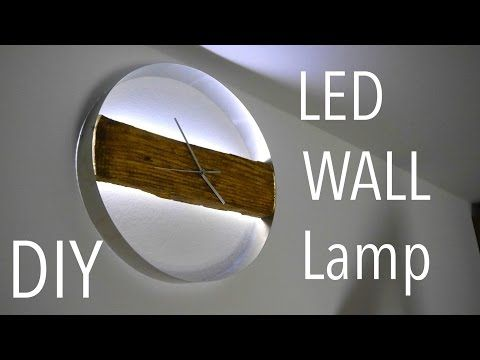 DIY WOOD CLOCK / Led Wand Uhr  Tutorial  Anleitung - YouTube