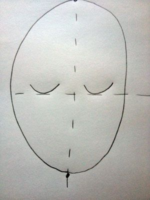 how to draw a proportional self-portrait for kids