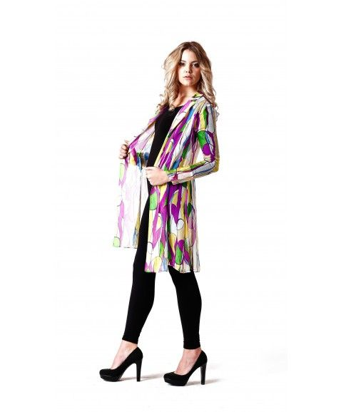 SISS ON BARE STYLE SILK DRESS - PURPLE     ·     Designed in Perth, Western Australia  ·     Silk chiffon blend  ·     purple print design  ·     Long sleeve, non-stretch fabric button front.  ·     Easy relaxed fit and feminine.  ·     Model wears size 8