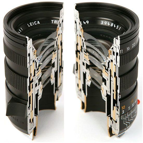 峰の月 • Cross Section Views of Leica Lenses