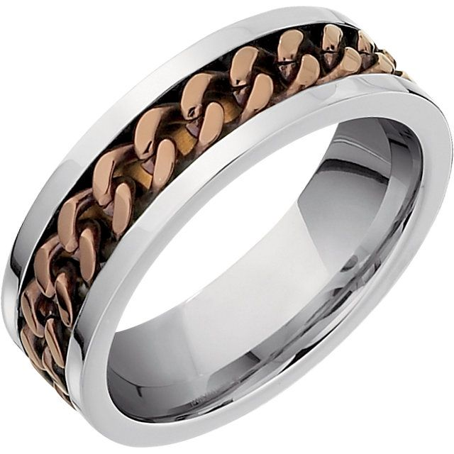 Stainless Steel Chocolate Immerse Plated Band...(STSTST979:011:P).! Price: $49.99