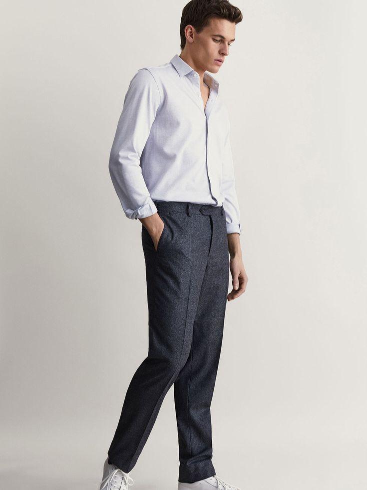 Spring Summer 2017 Men´s CAMISA PUNTO ESPIGA SLIM FIT at Massimo Dutti for 169900. Effortless elegance!