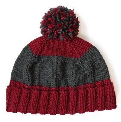 Button Back Hat   AllFreeKnitting.com