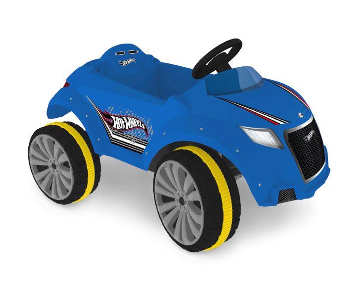 2259.8 - Carrinho XRover Elétrico 6v Hot Wheels | Com marcha ré, rodas esportivas, banda de rodagem emborrachada, direção com textura antiderrapante e cinto de segurança.  | Faixa Etária: +2 anos | Medidas: 93 x 65 x 53,5 cm | Elétricos | Xalingo Brinquedos | Crianças
