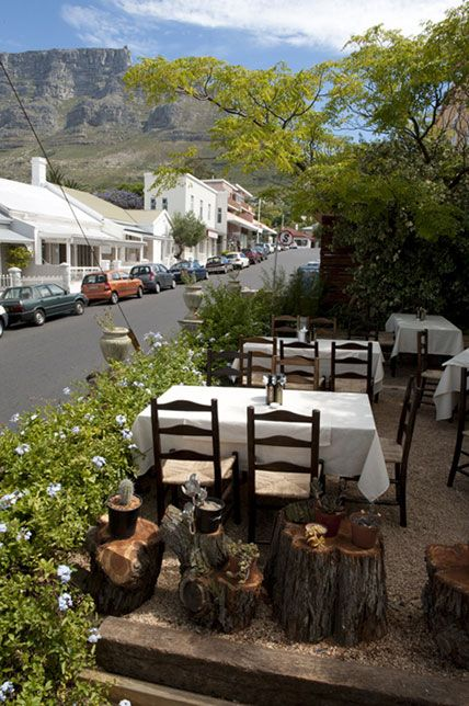 Café Paradiso ~ Kloof Street, near where the Human family live...
