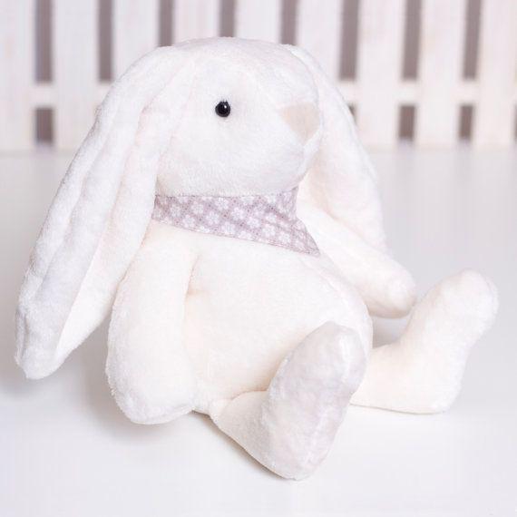 Fluffy Bunny Sewing Pattern, Soft Animal PDF Tutorial, Bunny rabbit softie, Stuffed plush Sewing, Handmade DIY Bunny Rabbit