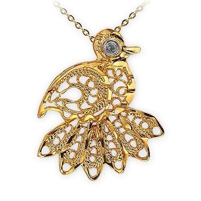 altın kolye, telkari, pırlanta kolye, kuş kolye, 14 ayar, doğa, sembol kolye