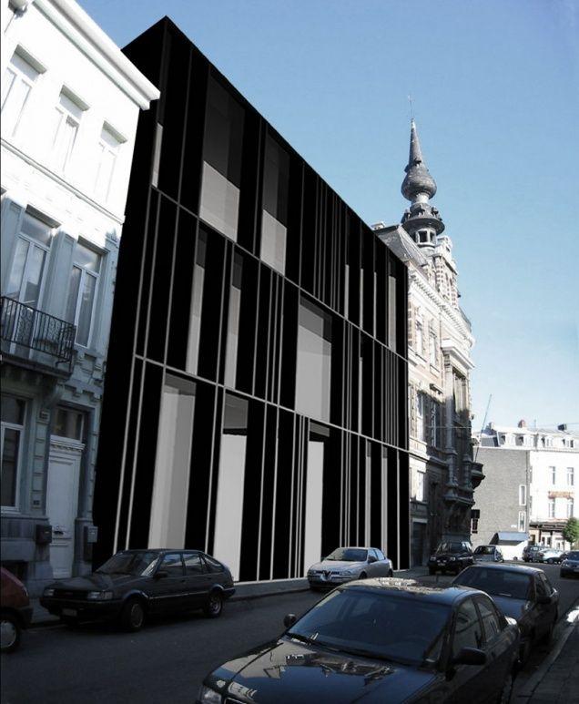 Elegant facade - a-vh offices, antwerpen