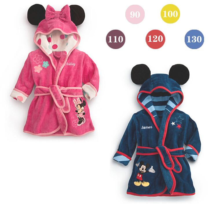 2014 <b>boys</b> girls cartoon Baby <b>bathrobe</b> baby <b>hooded</b> bath towel ...