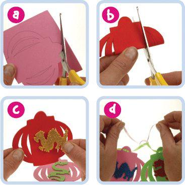 Chinese Lantern Banner | Craft Ideas at Patticrafts