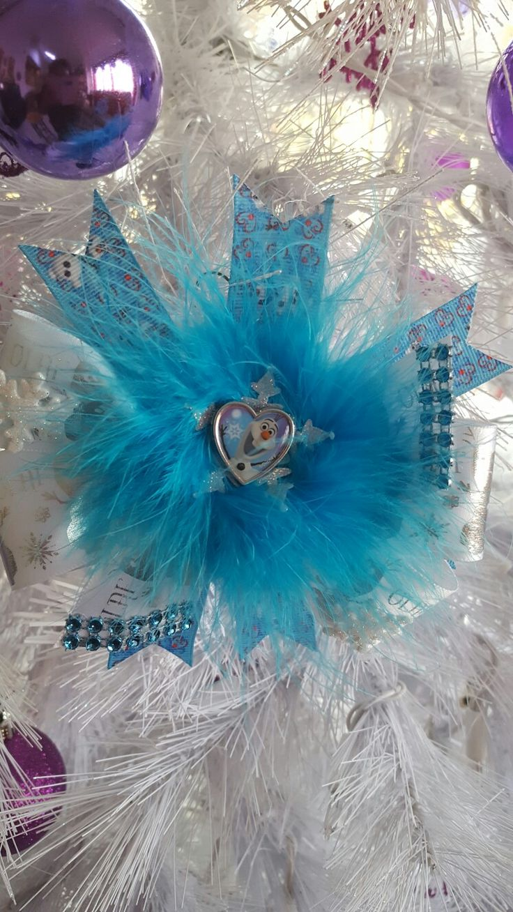 Olaf Theme Hair Bow Made By Norma's Unique Gift Baskets $8.