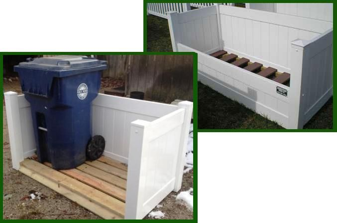 Garbage Can Holder Made With Pallets Things For The Home Pinterest
