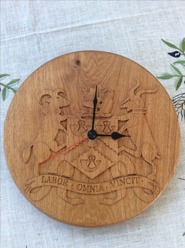 Wooden Football Clock For A Friend Who Is Keen On The Lesser Well Know Club