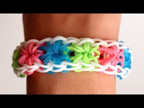 Rainbow Loom English - STARBURST - Loom Bands, easy, how to, DIY - YouTube
