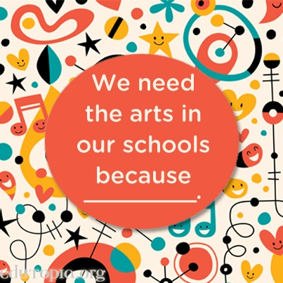 """We need art in schools because _______.""  Beginning of the year"
