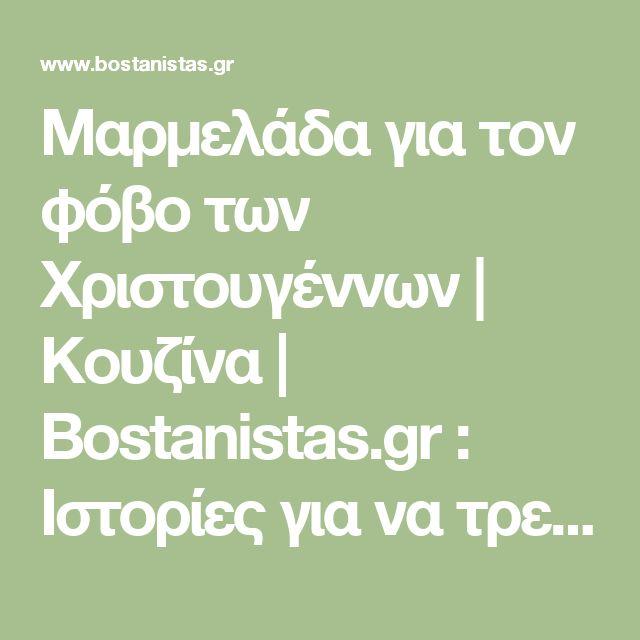 Μαρμελάδα για τον φόβο των Χριστουγέννων   Κουζίνα   Bostanistas.gr : Ιστορίες για να τρεφόμαστε διαφορετικά
