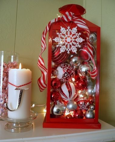 Super Easy DIY Christmas Decor Ideas - Whimsical Lantern - Click Pic for 25 Christmas Craft Ideas