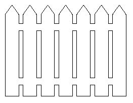 Picket Fence Pattern