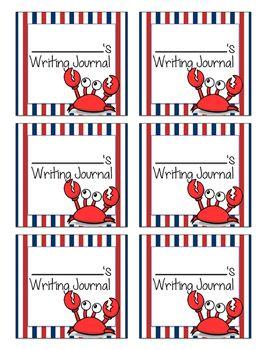 Nautical Journal Labels by A Good Class | Teachers Pay Teachers