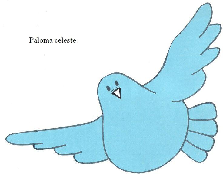 Celeste Color | Modelo de palomas.Dibujos de palomas.