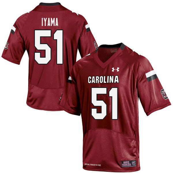 Men #51 Maxwell Iyama South Carolina Gamecocks College ...