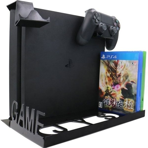 Organizer Game Console Horizontal Wall Perfect Fit Display Wall Mounting Kit Mount 3 In 1 Smart Game Pad Hanger For Playstation 4 Ps4s Ps4 Pro Xbox One S Console Padded Hangers Xbox One
