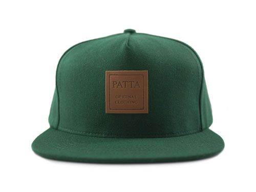 Patta Snapback Leather Patch 5 Panel (Green)