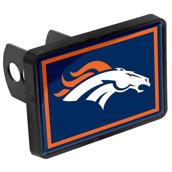"""Denver Broncos Logo 1.25"""" x 2"""" Universal Plastic Hitch Cover - $15.99"""