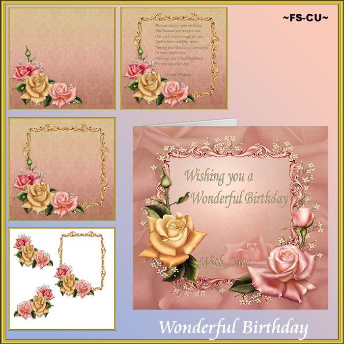Wonderful Birthday CU Card Making [kaysha- wonderful birthday] : Scrap and Tubes Store, Digital Scrapbooking Supplies