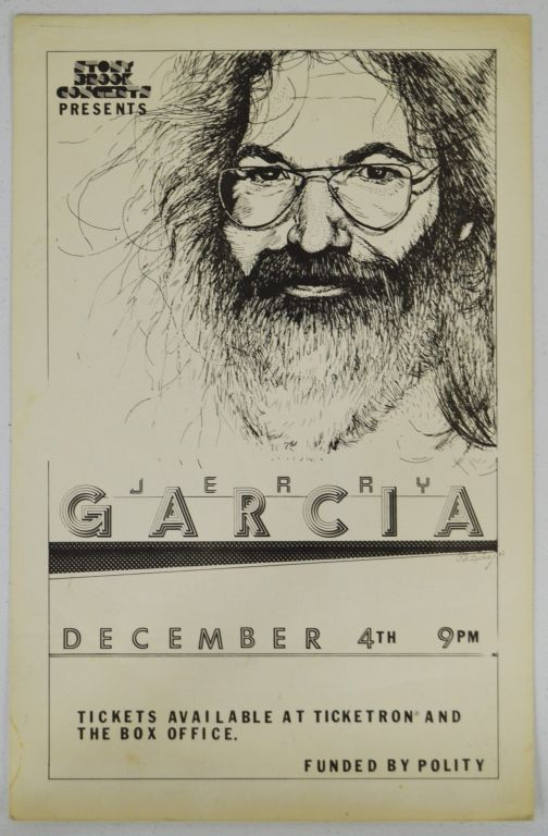 Jerry Garcia Band 1st Print Poster -  Jerry Garcia Band first printing concert CW First Printing poster,  1983 St Joesph, MO. Estimate: $750-1000