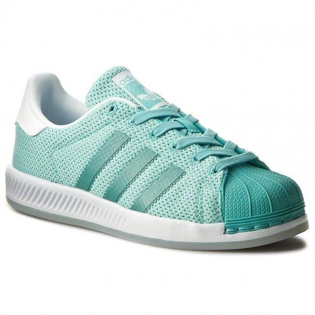 Nib~Adidas Originals SUPERSTAR BOUNCE honey Shoes Knit-Mesh ...
