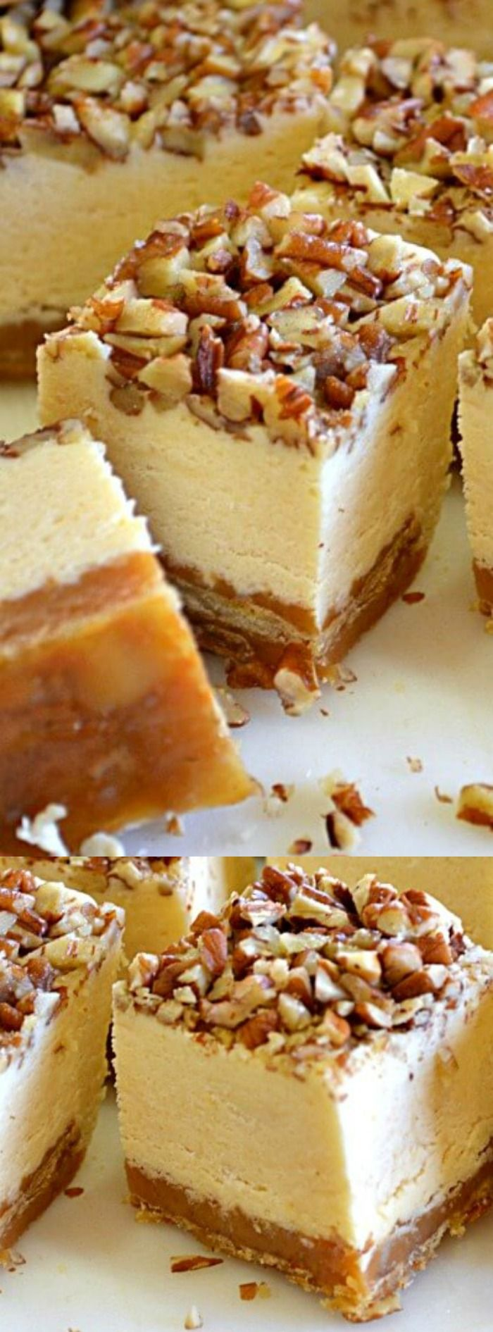This Pecan Pie Cheesecake Fudge from Lady Behind the Curtain is the ULTIMATE treat during the holidays!
