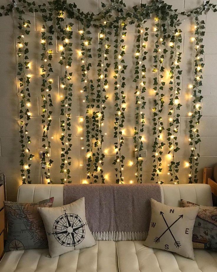 LED Wall Vine Lights in 2020   Aesthetic room decor, Room ... on Vine Decor Ideas  id=18302